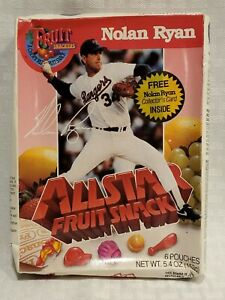 Nolan Ryan Fruit Snacks Box UNOPENED NEW Mets Angels Astros Texas Rangers