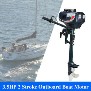 Outboard Motor 2 Stroke Inflatable Fishing Boat Engine 3.5HP CDI Ignition System