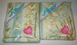 Vtg St. Mary's Rose Coordinate Floral Twin Flat & Fitted Bed Sheets NIP