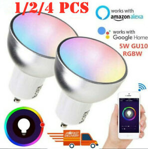 Smart Bulb WiFi GU10 RGBW Led Dimmable Compatible RC with Alexa