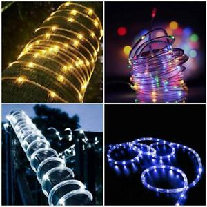 100LED 12m Solar Copper Wire Tube String Light 8 Modes Outdoor Decorative Lamp