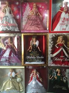 Barbie Holiday Collection Dolls NRFB