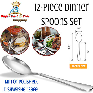 Mini Dessert Spoons Set Stainless Steel Coffee Tea Stirer Restaurant Utensils