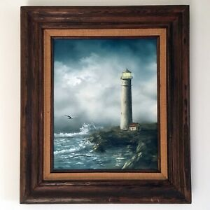 Original Gregory S. Hill quot;The Lighthousequot; Oil Painting $2850.00