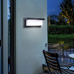 Modern LED Wall Light Waterproof Exterior Outdoor Porch Sconce Lamp Fixture 18W