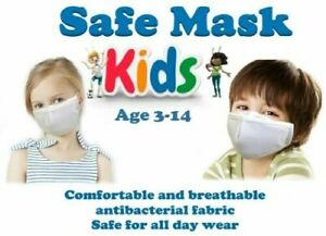 (2 PACK) KIDS SIZE  REUSABLE (WASHABLE) FABRIC FACE MASK  FREE USA-SHIPPING