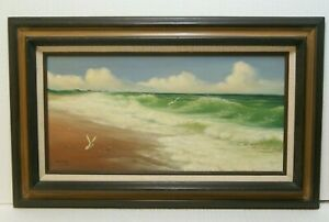 Early Original Michael Whitlow Seascape Oil Painting. Realism. Fine Detail $147.00