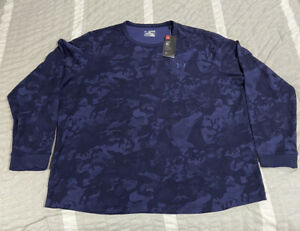 Under Armour Coldgear L S Thermal Blue Camo Shirt Size 3XL Camouflage $34.99