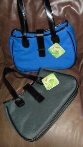 Sachi Go Fresh! Insulated Leakproof Tote Lunch Bag Gray or Blue  NWT