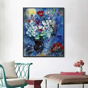 24quot;x32quot;FFramed Canvas Giclee Print Art Flower 6 by Marc Chagall Wall Art $79.99