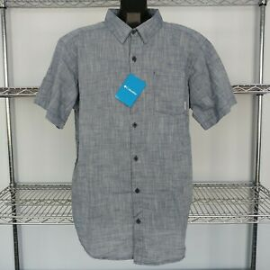 NEW Columbia Under Exposure SS Shirt Men#x27;s Sizes S XXL Blue Green Grey Red