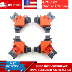 4X 90 Degree Right Angle Corner Clamp Woodworking Wood For Kreg Jigs Clamps Tool $11.99