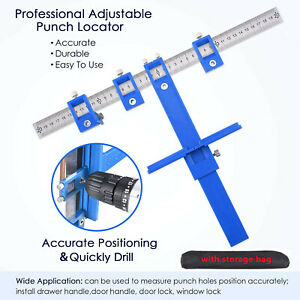 Drill Guide Sleeve Punch Locator Cabinet Hardware Jig Drawer Pull Wood Dowel $15.59
