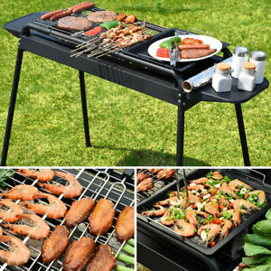 BBQ Grill Charcoal Barbecue Cooker Home Outdoor Camping Picnics