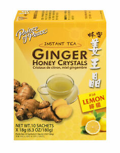 Prince of Peace Ginger Honey Crystals with Lemon 10 Tea Bags