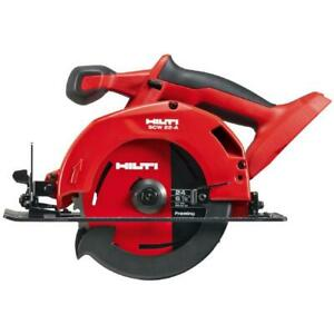 Hilti 22 Volt Lithium Ion Cordless Circular Saw Wood Cutting SCW 22 Tool Only