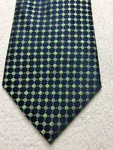 MERONA MENS TIE NAVY BLUE AND GREEN 3.5 X 59 NWOT