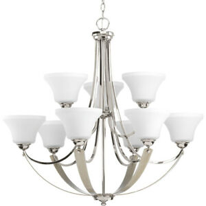 Progress Lighting P400013 104 Noma Chandelier Polished Nickel