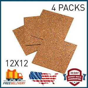 NEW Cork Tiles Cork Board 12 X 12 Wall in Boards Naturally Durable 4 Pack