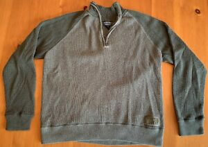 Ralph Polo Jeans Company 1 4 zip Army Green Men's Pullover Sweater XL $19.99