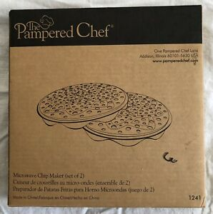 Pampered Chef Microwave Chip Maker (set of 2) #1241 New In Box