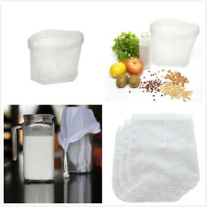 Reusable Nylon Fine Mesh Food Strainer Filter Bag for Milk Brew Coffee Juice