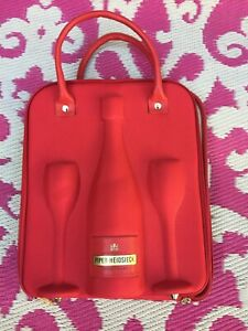 Piper Heidsieck Champagne Glass Insulated Zippered Soft Shell Tote Red Bag