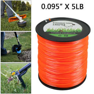 5 lb .095 Square Trimmer Line Commercial grade Fits Echo Stihl Orange Lawn Yard