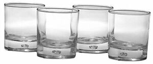 Circleware Air Bubble Heavy Base Whiskey Glass Drinking Glasses, Set of 4, Oslo