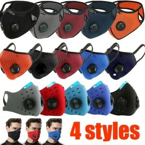 Reusable Washable Neoprene Air Ventilation Port Face Mask  PM2.5 Carbon Filter