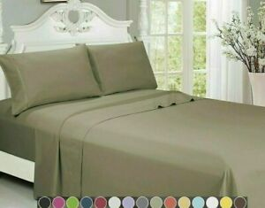 Egyptian Luxurious Comfort 1800 Series 4 Piece Bed Sheet Set Deep Pocket Sheets