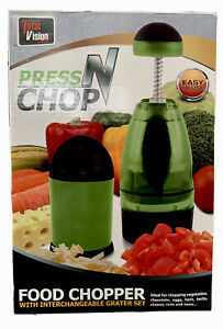 Press N Chop Food Chopper with Interchangeable Grater Set