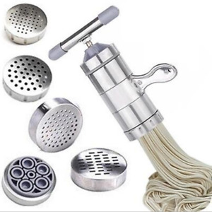 Stainless Steel Pasta Noodle Maker Press Spaghetti Kitchen Machine with 5 Model