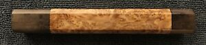Replacement Japanese Wa Knife Handle Octagonal Stabilized  Pyinma Burl Large