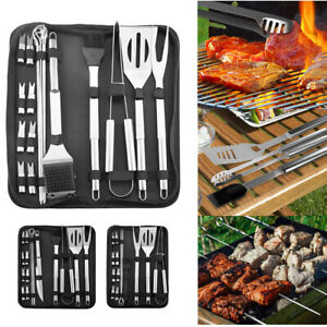 20pieces BBQ Grill Tools Set Grill Kit Barbecue Accessories Stainless Steel