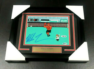 IRON MIKE TYSON AUTHENTIC SIGNED AUTOGRAPHED 8X10 PHOTO FRAMED PUNCH OUT BAS COA $109.95