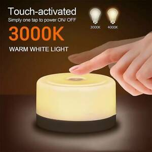 LED Touch Night Light Bedside Table Lamp USB Rechargeable Warm White RGB NEW