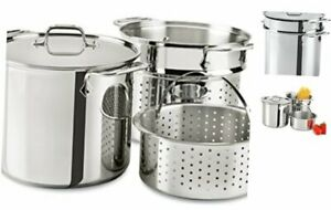 All-Clad E9078064 Stainless Steel Multicooker with Perforated Steel Insert and