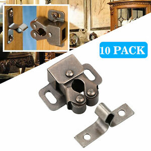 10x Double Roller Catch Copper Finish Heavy Duty Latch for Cabinet Closet Doors