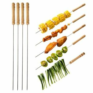 10Pcs Stainless Steel Barbecue BBQ Skewers Needle Kebab Kabob Stick Tools