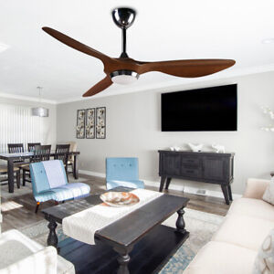 52'' Three-Blade Ceiling Fan Remote Control Modern Hand-painted Noiseless