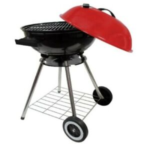 18quot; Round Kettle Charcoal BBQ 18 Inch Barbecue Grill With Red Lid New