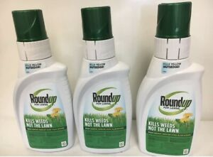 Lot of 3 - Roundup For Lawns 2 Concentrate (Northern) 32 oz.