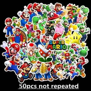 Super Mario Kids Nursery Removable Wall Decal Stickers Art Home Decor 50 pieces
