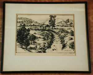 Alec Stern Gold Panner Lithograph