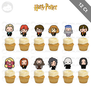 12 Harry Potter Cupcake Cake Topper Food Birthday Party Decoration Kids