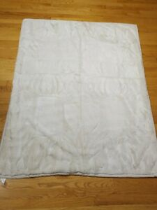 Pottery Barn White Cream Ivory Faux Fur Throw Blanket Thick Soft Plush 50