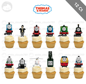 12 Thomas and Friends Engine Train Cupcake Cake Topper Food Birthday Party Kid $10.25