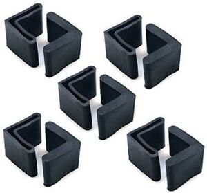 10pcs Rubber L Shaped Furniture Angle Iron Leg Covers Foot Pads Black NEW *Y