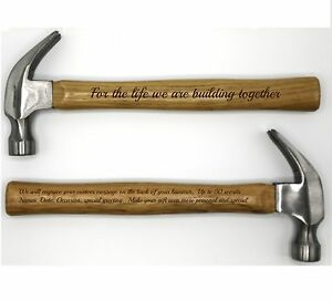 Personalized Hammer ~ Laser Engraved Hammer w/ Your Personal Words ~ Life